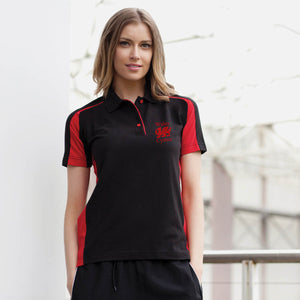 Welsh Dragon - Women's Sport Contrast Polo Shirt