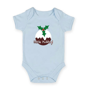 Little Pudding! - Christmas Pudding Baby Grow (Colour choice)
