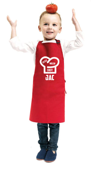 Children's Personalised Apron - Little Welsh Chef!