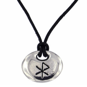 St. Justin Love Bind Rune Pendant On Leather Thong