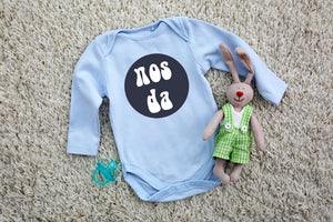 Nos Da - L/S Welsh Baby Grow