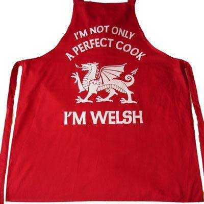 I'm a Perfect Cook -  Welsh Kitchen Apron - RED