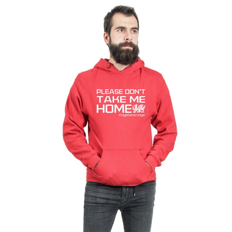 Don't Take Me Home -Wales Football Hoodie RED