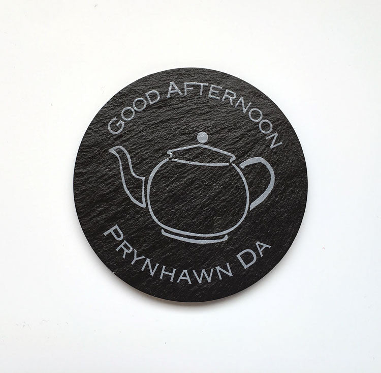 Prynhawn Da - Good Afternoon - Welsh Slate Coaster