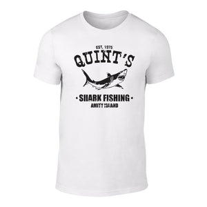 JAWS - QUINTS SHARK FISHING - TEE WHITE