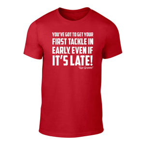 Early Tackle - Welsh Rugby Banter T-Shirt (Red)
