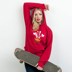 Modern Welsh Feathers - Ladies Hoodie