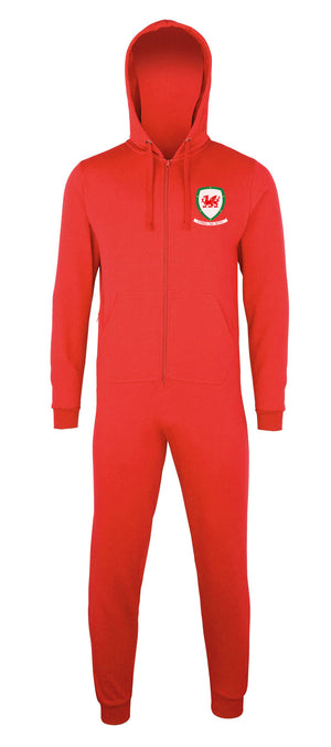 Welsh Football Shield - Onesie Hoodie