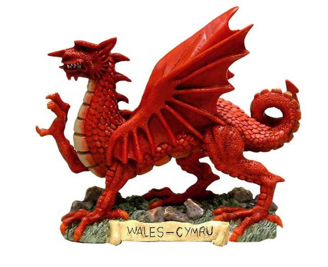 Welsh dragon ornament figurine