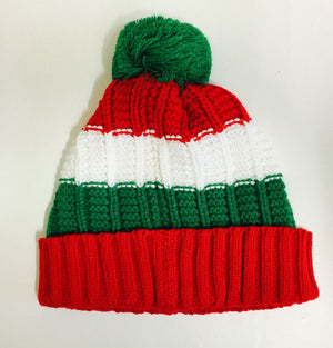Retro Knitted Welsh Bobble Hat