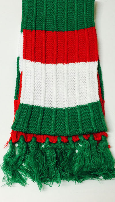 Chunky Retro Knitted Welsh Scarf