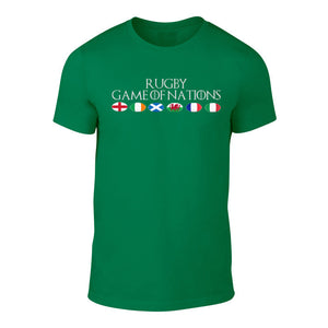 Rugby Game Of Nations - 6 Nations Flag T-Shirt Special Offer