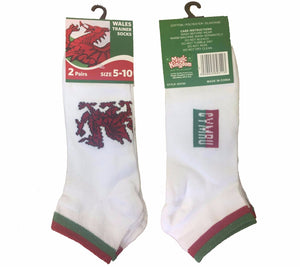 Welsh Dragon Trainer Socks (Low Cut)