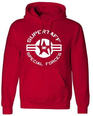 Supertaff® - Military Special Forces Hoodie RED