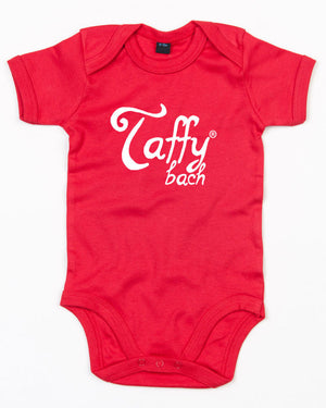 Taffy Bach - Welsh Babygrow (Red)