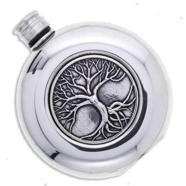 Tree of Life Round flask 3oz (PF69)