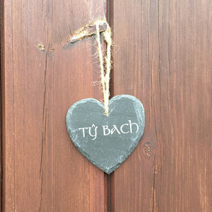 Welsh Slate Hanging Plaque (Ty Bach)