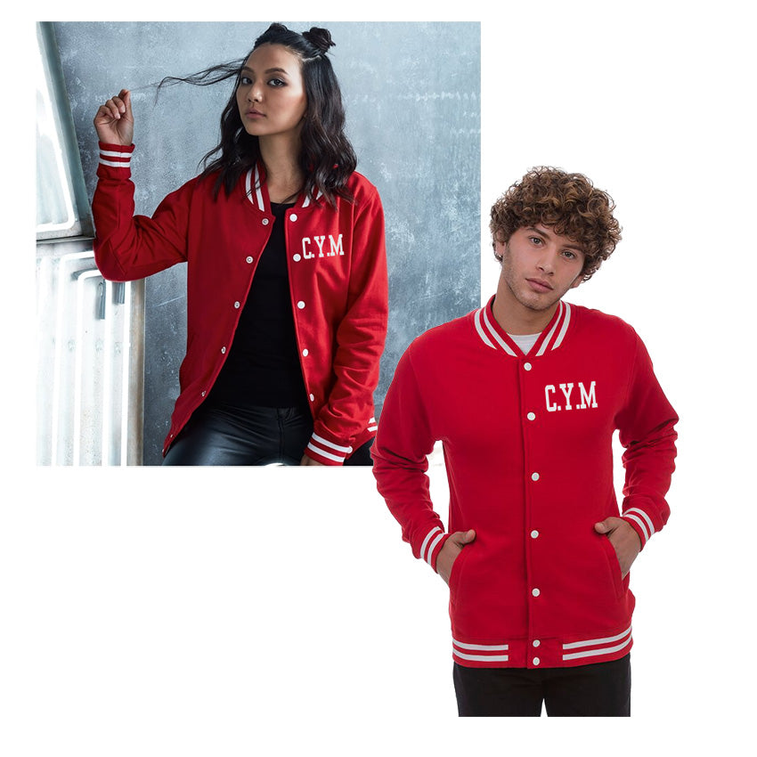 Unisex Welsh College Varsity Jacket - CYM