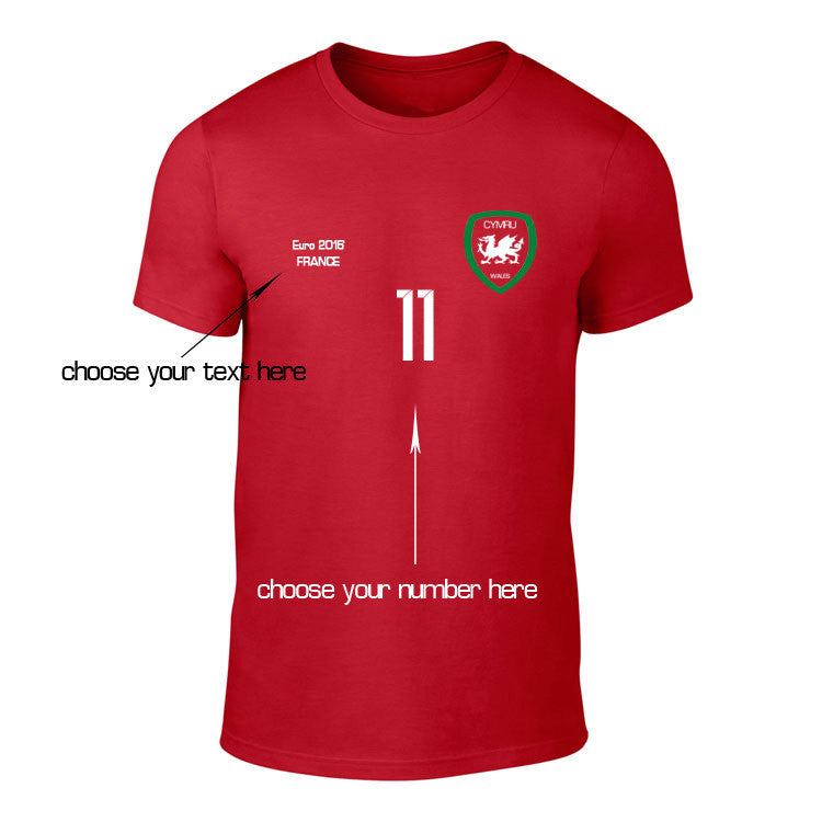 Wales Customised Euro2016 Football T-Shirt