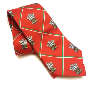 Wales Feathers Welsh Tie