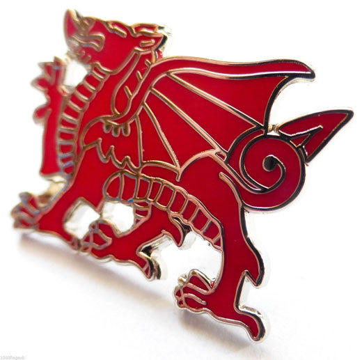 Welsh Dragon Pin Badge (Red)