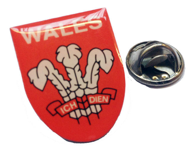 Prince of Wales feathers Shield Badge