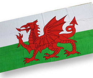Welsh Flag Holiday Beach Towel