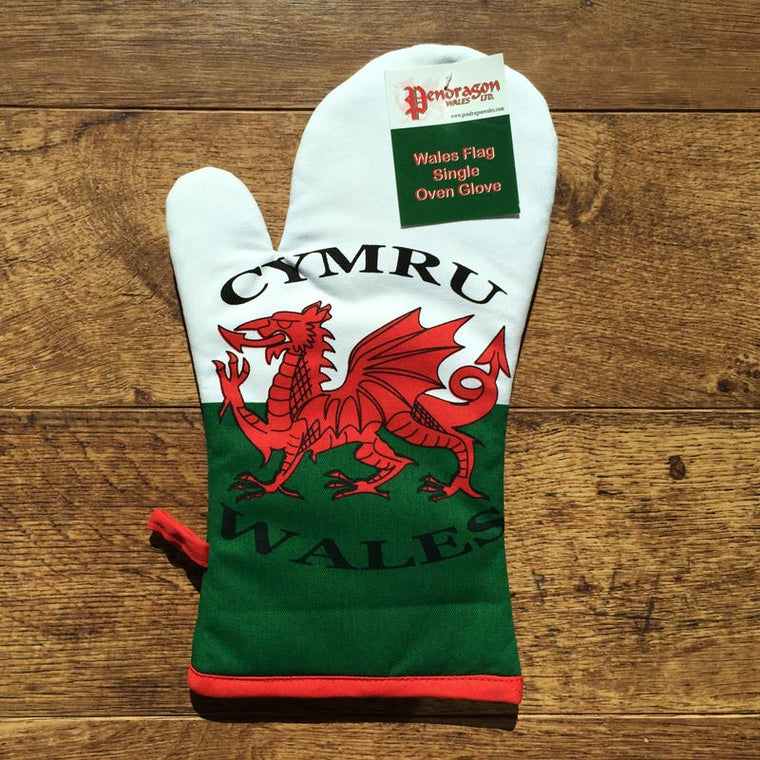 Welsh Flag Oven glove Mit