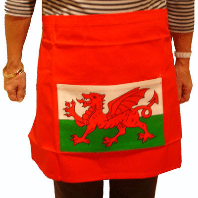 Welsh Flag Kitchen Pinny - Apron