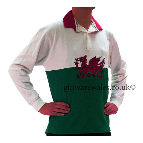Welsh Flag Rugby Shirt - Adult