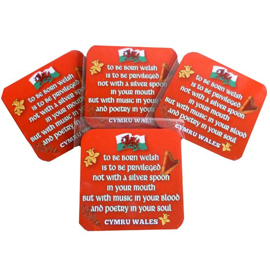 Welsh Love Poem - Set of Four Coasters