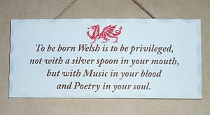 Welsh Poem decorative Welsh Wooden Sign
