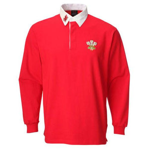 SPECIAL OFFER! - Junior Baby - Retro Welsh Rugby Shirt - FRONT