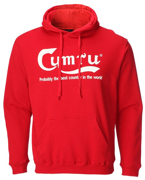 Cymru - Best country in the World - Welsh Hoodie -Red