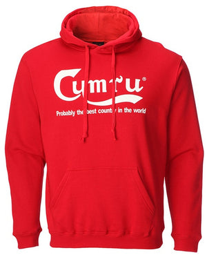 Children's - Best Country in The World Welsh Hoodie - Red