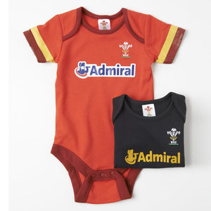 Official WRU Welsh Baby Grow - 2 Pack Kit