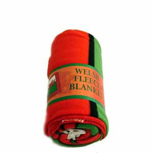 Bedroom/ lounge Welsh Flag Fleece Blanket