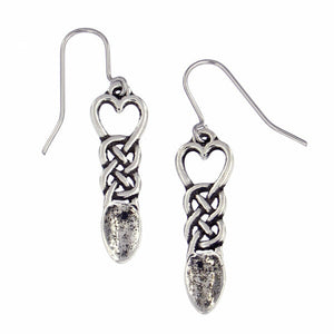 Love spoon earrings - Pewter (PE791)