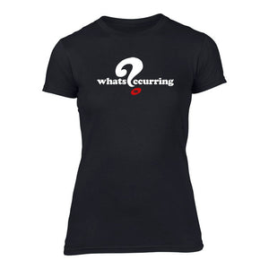 What's Occurring - Ladies Welsh T-Shirt (Black)