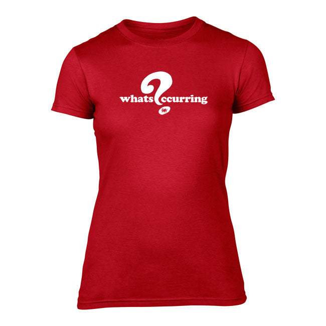 What's Occurring - Ladies Welsh T-Shirt (Red)