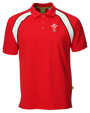 Official WRU Welsh Polo Shirt - Contrast