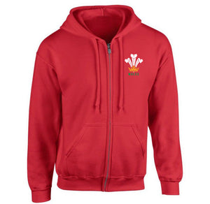 Modern Welsh Feathers - Unisex Full Zip Hoodie