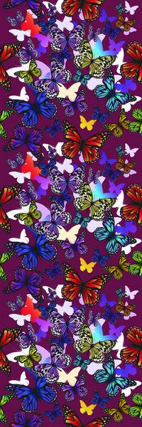 Butterflies Burgundy
