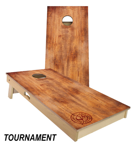 Burnt Wood Cornhole Board