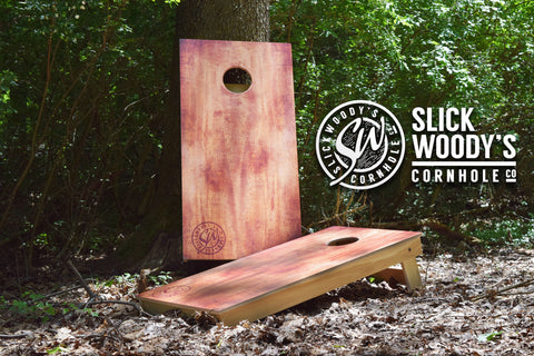 Burnt Wood Cornhole Boards best selling