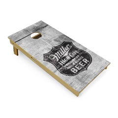 Slick Woody's Cornhole Company Miller High Life stock cornhole board set