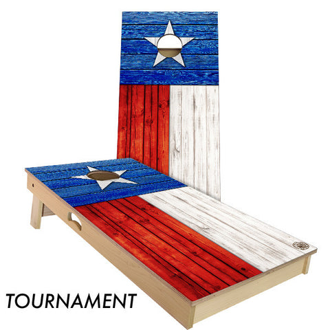 Texas State Flag Cornhole Board
