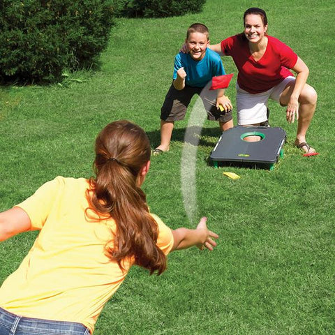 cornhole bag throw