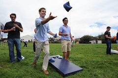 Cornhole on Thanksgiving