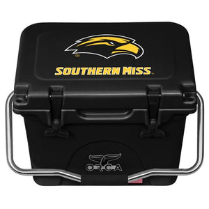 Black/Black Southern Miss 20 Quart ORCA Coolers